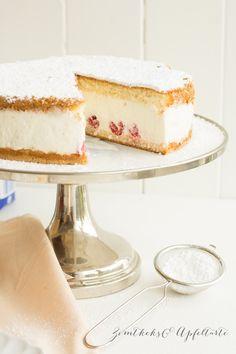 Feine Käse-Sahne-Torte - mein einfaches und schnelles Rezept für die perfekte Torte für Euren Sonntags-Kaffeetisch... Im Sommer perfekt mit ein paar frischen Beeren
