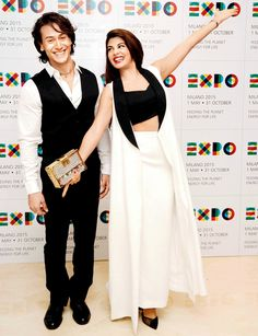 Tiger Shroff and Jacqueline Fernandez at preview of Expo Milano 2015. #Bollywood #Fashion #Style #Beauty #Handsome
