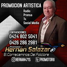 @hernansalazar58  promotor oficial a nivel nacional #promocion  #radio  #prensa  #tv