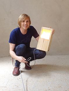 OC68 LED Lamp of bounced light from Recycled EU Pallet. Oliver Casis © 2015