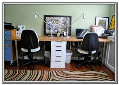 two person desk home office - home furniture design | home office