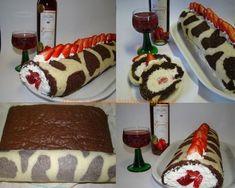Epres, túrós piskóta tekercs boci mintával Cake, Food, Kuchen, Essen, Meals, Torte, Cookies, Yemek, Cheeseburger Paradise Pie