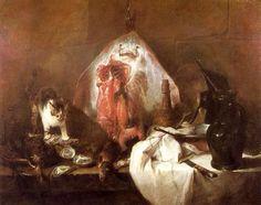 La Raie (1728)  Jean Siméon Chardin (1699-1779)  Musée du Louvre (Paris)