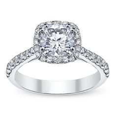 Coast 14K White Gold Diamond Engagement Ring Setting