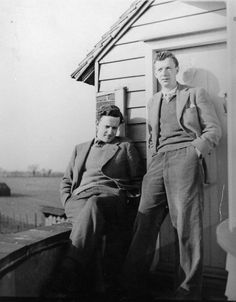 The composer, Benjamin Britten, right, with his partner, the tenor Peter Pears, at the Old Mill, his house in Suffolk, England, circa 1943