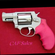 Pink Taurus 357 Mag. Revolver...every girl needs a 357, but i like the hardcore barrel. not this short one.