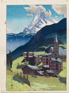 Yoshida Hiroshi (Japanese, 1876–1950) Matterhorn, Daytime (Matahorun-yama) | Museum of Fine Arts, Boston