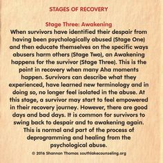 Stages of recovery and this one seems to be the hardest so far.