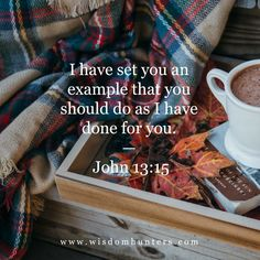 I have set you an example that you should do as I have done for you. John 13:15 Bible Reading For Today, Acts 1, John 13, Attitude Is Everything, I Have Done, Jesus Christ, Savior, Verse Of The Day, No Way