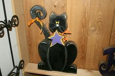 Cute Halloween Craft. Black Cat