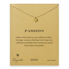 passion perfect heart necklace, gold dipped - Dogeared