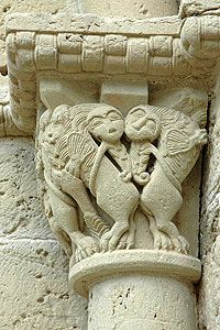Capitell Sant Benet del Bages,  Catalonia Romanesque Sculpture, Romanesque Art, Romanesque Architecture, Church Architecture, Religious Architecture, Amazing Architecture, Architecture Details, Carolingian, Early Middle Ages