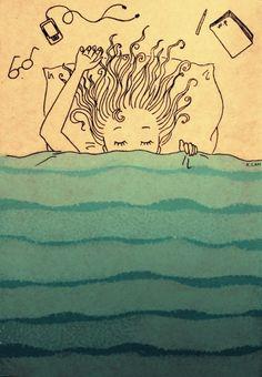Blanket like an ocean