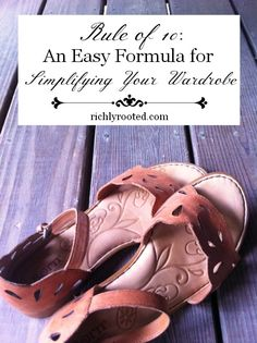An Easy Formula for #Simplifying Your Wardrobe - RichlyRooted.com