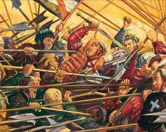 German Landsknecht Mercenaries in melee combat 1486-1560
