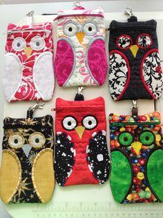 Owls!  zipper bag pattern from Embroidery Garden.