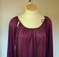 Vintage Purple Nightgown Purple Lingerie by MaisonChantalMichael