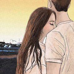 Musmutlu illustrates the beauty of falling in love - Aysegul Şahin -. - Musmutlu illustrates the beauty of falling in love – Aysegul Şahin – # Ayşegül - Couple Sketch, Cute Couple Drawings, Cute Couple Art, Anime Love Couple, Love Drawings, Sketches Of Love Couples, Pencil Art Drawings, Art Drawings Sketches, Cute Love Cartoons