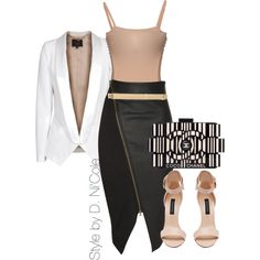 A fashion look from December 2014 featuring SLY 010 blazers, Jane Norman skirts and Acne Studios. Browse and shop related looks. Mode Outfits, Fashion Outfits, Womens Fashion, Fashion Styles, Classy Outfits, Stylish Outfits, Elegant Outfit, Swagg, Luxury Fashion