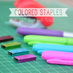 Made with love by Agus Y.: 1° School Trick DIY: Colored Staples