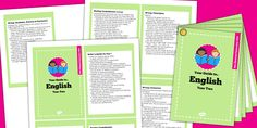 2014 Curriculum Cards Year 2 English - new curriculum, literacy Twinkl