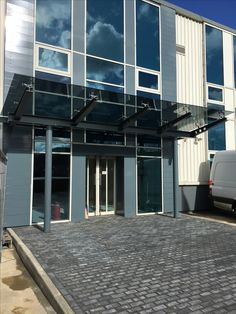 Steel And Glass Entrance Canopy