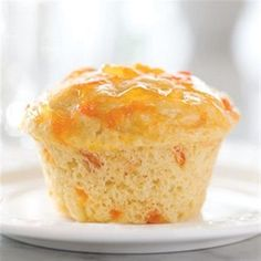 Apricot Muffins-is an easy and delicious recipe. It takes less than an hour to prepare and cook. This recipe uses sugar-free preserves and no-calorie sweetener. It contains 0g of sugar.It is a low calories, low fat, low cholesterol, low sodium, low sugars, low carbohydrates, heart-healthy, diabetic and Weight Watchers (5 SmartPoints) recipe. Could be used for breakfast, brunch, dessert or as a treat. Makes 6 muffins.