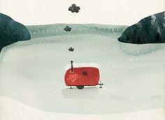 Wisconsin Love - Ice Shanty - Illustration Amy Lee Sullivan