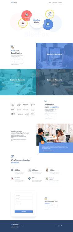 Landing Page Design for Bluefox Media by Surja Sen Das Raj