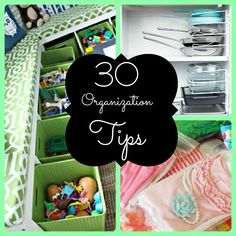 For the OCD in all of us, some are outrageous and sadly I may have spend a lil money but its worth a try.  30 Organization Tips!!!
