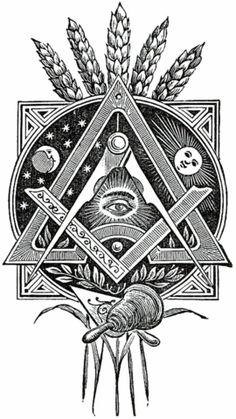 Lots of Masonic symbols here