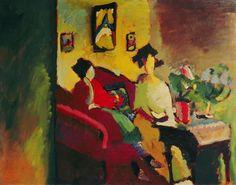 Vassily Kandinsky - Interior Gabriele Münter and Marianne v.Werefkin