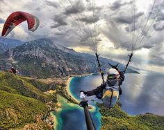 Another day in paradise. Photo by Burak Tuzer paragliding above Ölüdeniz Fethiye in Turkey.
