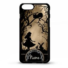 Alice in wonderland sihlouette personalised name art cover for iphone 4 4s 5 5s 6 6 plus case Sony xperia Z3 HTC Galaxy s5 phone case