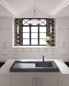 granit küchenspüle modex küche asche grau modern kratzfest