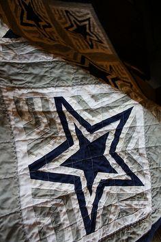 Dallas Cowboys Star quilt - By Lena (Crazy Quilt Lena)