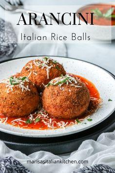 Italian Rice Balls Recipe, Italian Recipes, Italian Cooking, Best Italian Dishes, Italian Entrees, Italian Dinners, Italian Foods, Arancini Recipe, Cooking Recipes