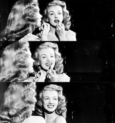 1949. Norma Jeane (Marilyn Monroe) travelled across United States of America to promote the 1949 movie Love Happy. Photos by Charles Carbone.