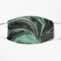 """Face Mask featuring artwork """"Peppermint Swirl"""" by ArankaArts Fractal Design, Face Art, Spandex Fabric, Fractals, Face Masks, Peppermint, Abstract Art, Digital Art, Artwork"""