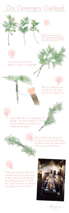DIY garland (eucalyptus, bay, oak, etc)