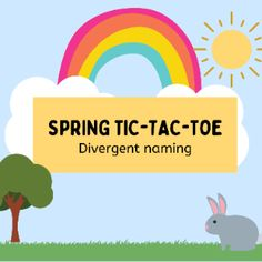 Boom Cards - Spring Tic-Tac-Toe: Divergent Naming Tic Tac Toe, Divergent, Speech Therapy, Fun Games, Special Education, Author, Student, Activities, Learning