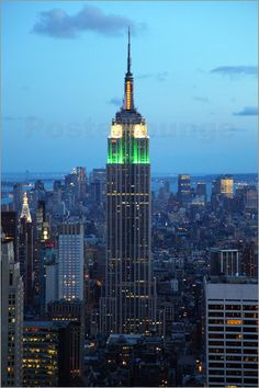 Empire State Building in the evening