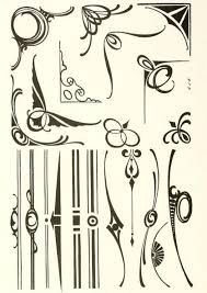 Resultado de imagen para art nouveau ornaments