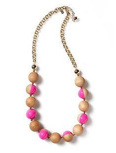 Kate Spade Rosewood Dot Necklace.....i love this!!! And it would be so simple to make too!
