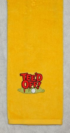 Golf towel will be personalized with the recipient's first or last name.  $15.00 value.