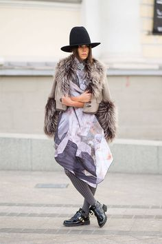 Street Style: From Russia with Love...  - HarpersBAZAAR.com