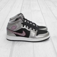 new arrival f284e e3f1b Nike Air Jordans💖 They are silver  black Air Jordan More Pictures will be  posted tomorrow ✨📸 Price is negotiable if reasonable🤔 Nike Shoes Sneakers