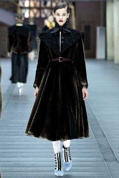 Miu Miu velvet dress coat black