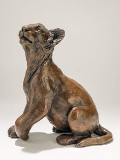 Lion Sculpture - Bronze Sculpture by Nick Mackman