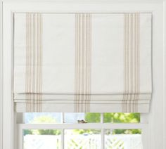 Captivating Fabric Roman Shades Cordless and Riviera Stripe Cordless Roman Shade Pottery Barn 29322 is among images of Roman Shades concepts for your resid Plywood Furniture, Furniture Slipcovers, Outdoor Furniture, Furniture Design, Painted Furniture, Pottery Barn, Blue Pottery, Cordless Roman Shades, Faux Roman Shades